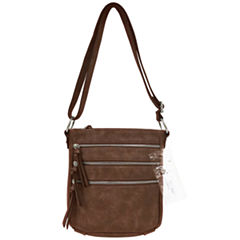 St. John's Bay Tech Triple Zip Crossbody Bag