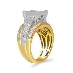 Womens 2 CT. T.W. Genuine Baguette Diamond 10K Gold Engagement Ring