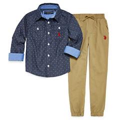 Us Polo Assn. 2-pc. Plaid Pant Set Boys