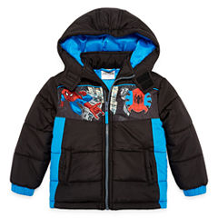 Spiderman Puffer Jacket -Toddler Boys