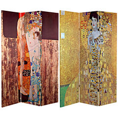 Oriental Furniture 6' Works Of Klimt Room Divider