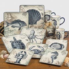 Certified International Coastal Postcards Dinnerware Collection
