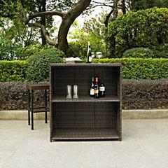 Crosley Palm Harbor Wicker 3-pc. Patio Bar Set
