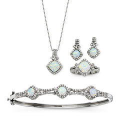 Lab-Created Opal & Cubic Zirconia 4-pc. Set
