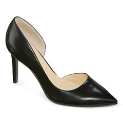 Liz Claiborne® Zahara Leather Dress Pumps