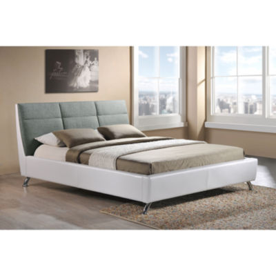 platform bed white 550sale
