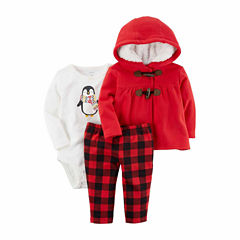 Carter's 3-pc. Checked Pant Set Baby Girls