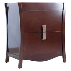 American Imaginations Bow Rectangle Floor Mount 29.5-in. W x 18-in. D Modern Birch Wood-Veneer Vanity Base Only In Coffee
