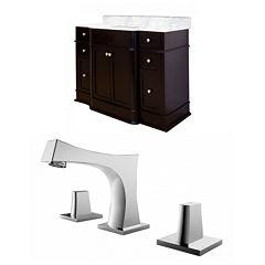 American Imaginations Granicus Rectangle Floor Mount 8-in. o.c. Center Faucet Vanity Set