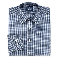 Stafford Travel Easy-Care Broadcloth Long Sleeve  Pattern Dress Shirt