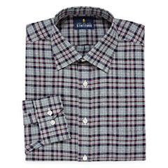Stafford Long Sleeve Twill Plaid Dress Shirt