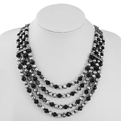 Liz Claiborne Black Beaded Necklace
