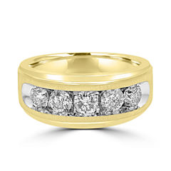 Mens 1 1/2 CT. T.W. Genuine Diamond 10K Gold Band