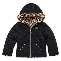 Pacific Trail Midweight Pattern Puffer Jacket - Girls-Toddler