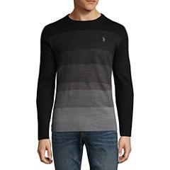 U.S. Polo Assn. Long Sleeve Stretch Stripe Crewneck Sweater