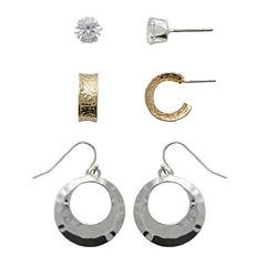 Sensitive Ears 3 Pair Brass Earring Sets