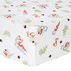 Trend Lab® Forest Gnome Fitted Flannel Crib Sheet
