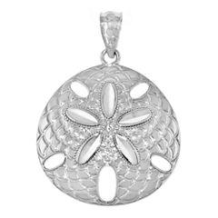 Sterling Silver Sand Dollar Charm Pendant