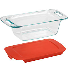 Pyrex® Easy Grab 1½-qt. Loaf Dish with Red Plastic Cover