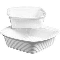 Denmark® 2-pc. Porcelain Square Baking Dish Set