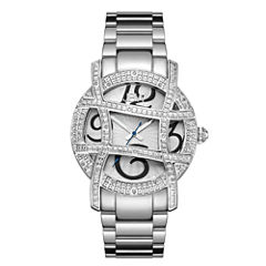 JBW Olympia Womens 1/5 CT. T.W. Diamond Stainless Steel Bracelet Watch