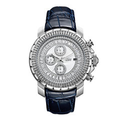 JBW Stainless Steel Titus Mens Blue Strap Watch-J6347l-E