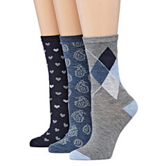Mixit 3-pc. Crew Socks - Womens