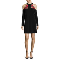 by&by Long Sleeve A-Line Dress-Juniors