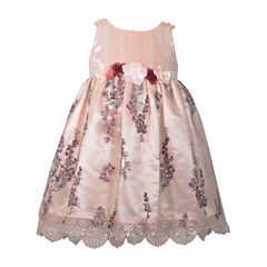 Bonnie Jean Not Applicable Sleeveless A-Line Dress - Baby Girls