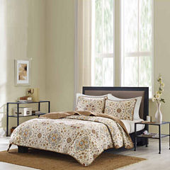 Bibb Home Printed Reversible Quilt Coverlet Set