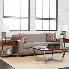 Sleeper Possibilities Track-Arm Fabric Sleeper Sofa