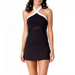 LIz Claiborne High Neck Tankini or Swim Skirt