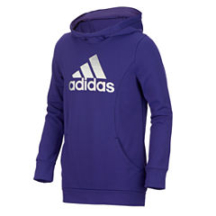 Adidas Logo Pullover Hoodie - Girls' 7-16