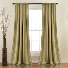 Lush Decor Julia Stripe 2-Pack Room Darkening Curtain Panel