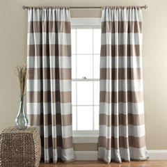 Lush Decor Stripe 2-Pack Room Darkening Curtain Panel