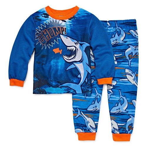 Shark 2 Piece Pajama Set - Toddler Boys