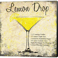 Lemon Drop Gallery Wrapped Canvas Wall Art On DeepStretch Bars