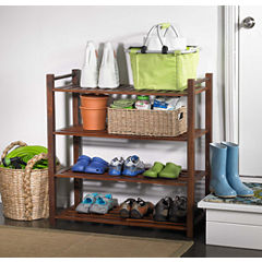 Northbeam 4-Tier Indoor/Outdoor Shoe Rack
