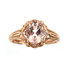 LIMITED QUANTITIES  Genuine Morganite and Diamond-Accent Ring