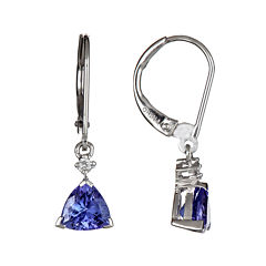 LIMITED QUANTITIES Genuine Tanzanite and Diamond-Accent Drop Earrings