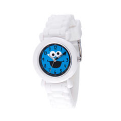 Sesame Street Boys White Strap Watch-Wss000028