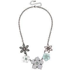 Decree Womens Multi Color Collar Necklace