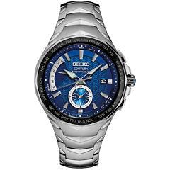 Seiko Coutura Blue Dial Mens Silver Tone Bracelet Watch-Ssg019