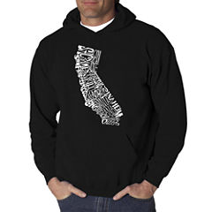 Los Angeles Pop Art California State Logo Hoodie