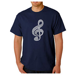 Los Angeles Pop Art Music Note Logo Graphic T-Shirt
