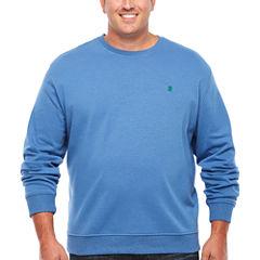 IZOD Advantage Performance Solid Crewneck Fleece Long Sleeve Sweatshirt Big and Tall