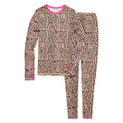 Cuddl Duds® 2-pc. Leopard Pajama Set - Girls 4-16