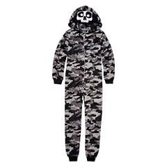 Grey Skull One Piece Pajama - Boys 4-20