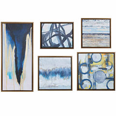 Madison Park Blue Bliss Gallery Art 5 Pc Set