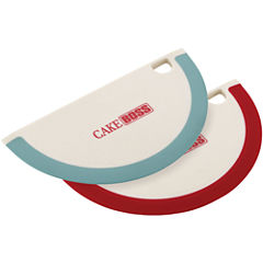 Cake Boss™ Set of 2 Silicone Bowl Scrapers